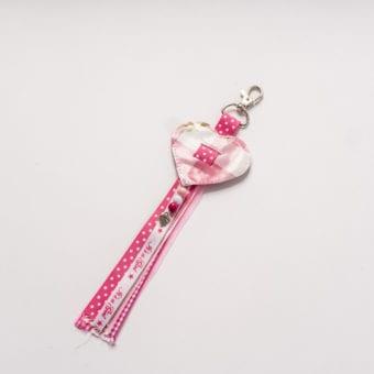 Sleutelhanger roze meisje