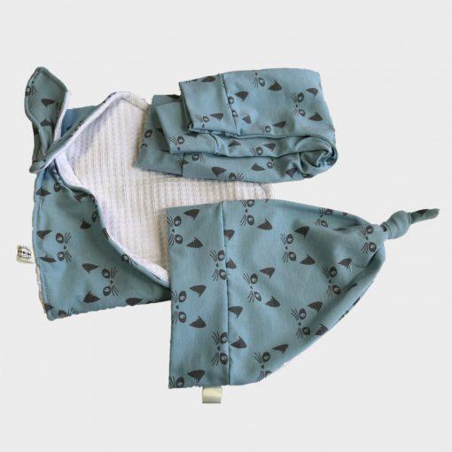 Baby kleertjes B grijs