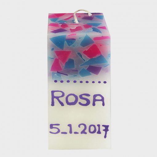 Kaars Rosa A grijs